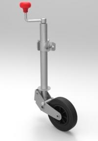 Подкатное колесо (автомат) оцинкованное